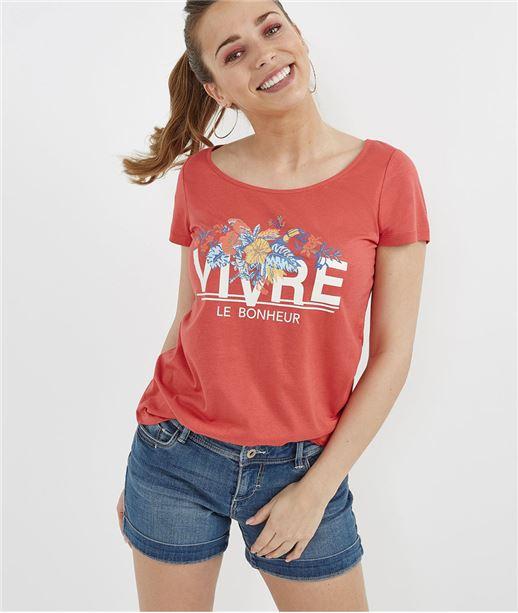 T-shirt manches courtes avec message ORANGE
