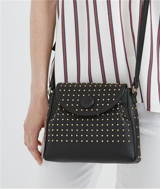 Petit sac noir avec clous NOIR