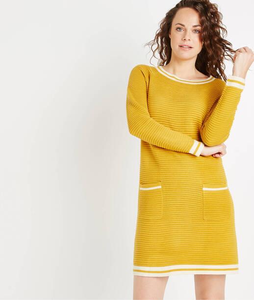 Robe pull de couleur AMBRE