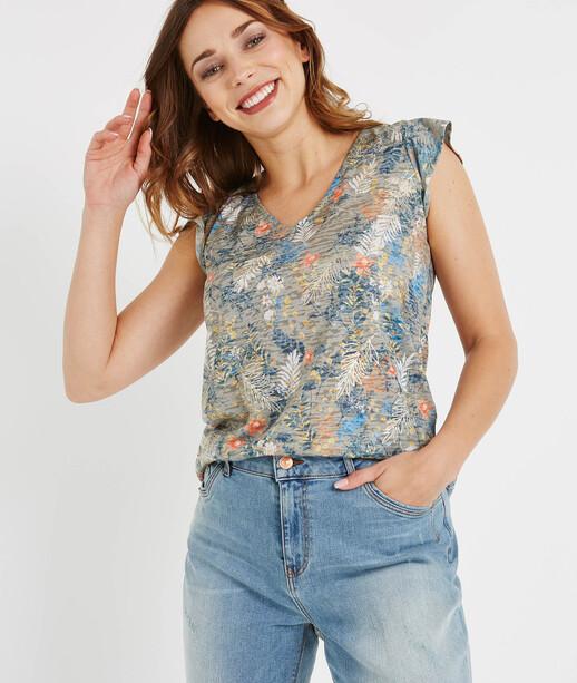 T-shirt imprimé avec dos original KAKI