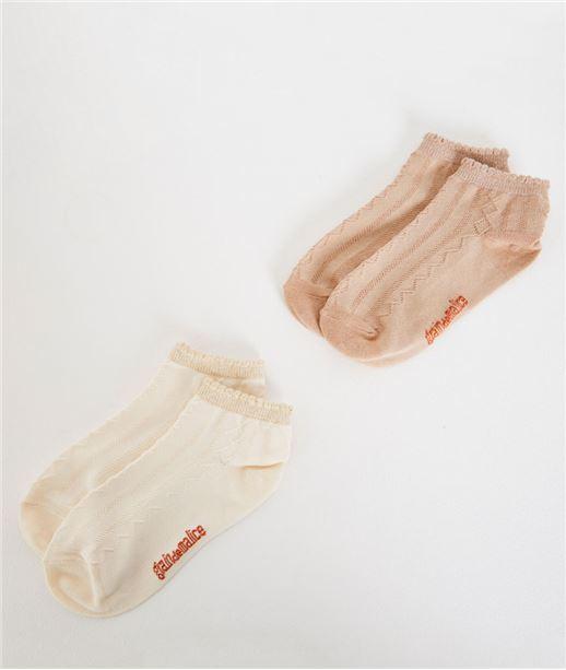 Lot de 2 paires de chausettes BEIGE