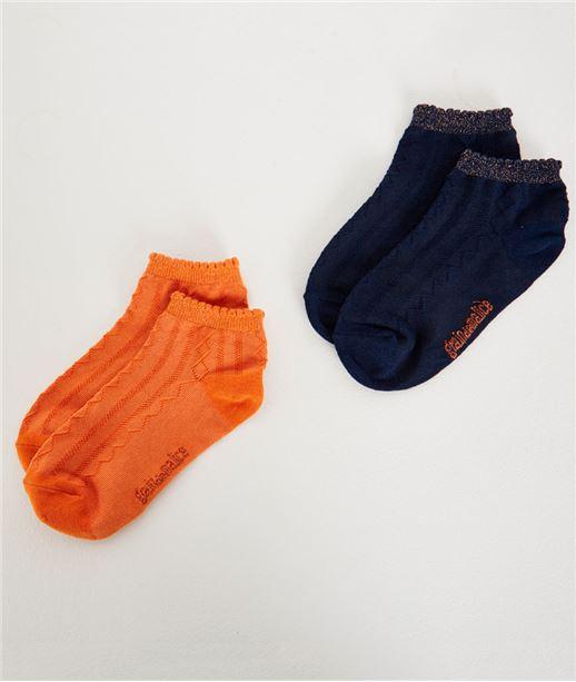 Lot de 2 paires de chausettes MARINE