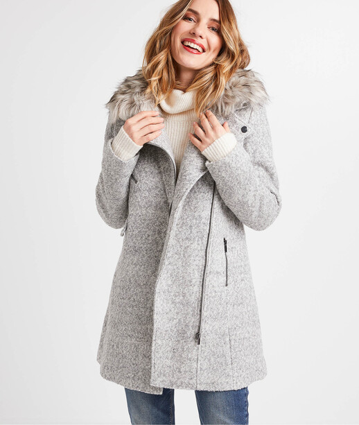 Manteau gris femme GRIS