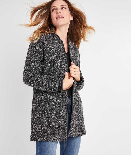 Manteau bombers gris femme GRIS