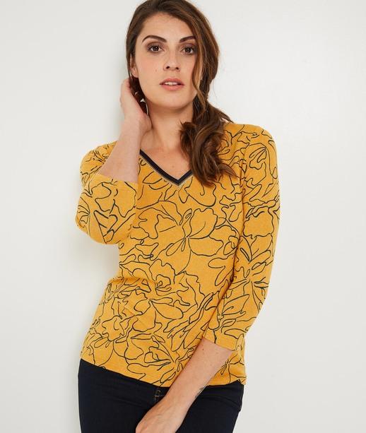 T-shirt safran imprimé floral SAFRAN