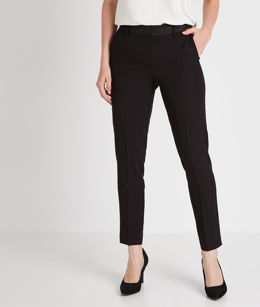 Pantalon smoking noir femme NOIR