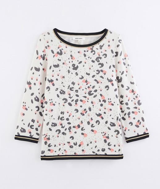 T-shirt imprimé léopard coloré BEIGE
