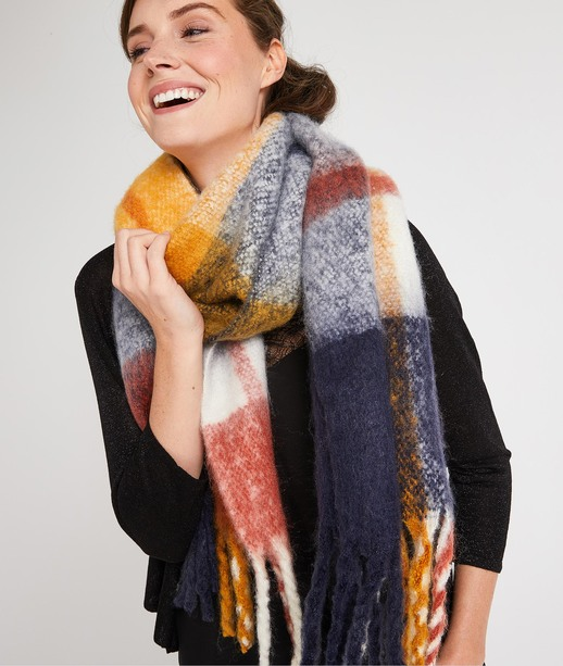 Echarpe chaude multicolore femme MULTICOLORE