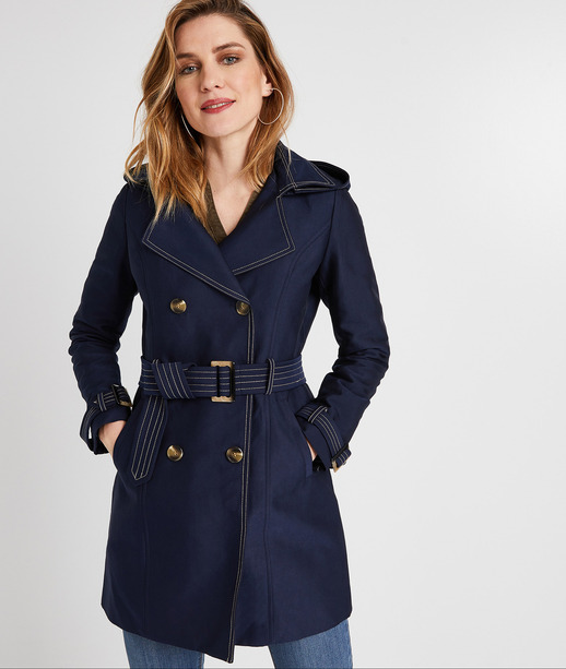 Trench long femme MARINE