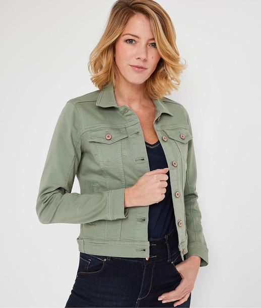 Veste en jean colorée femme ROSEAU