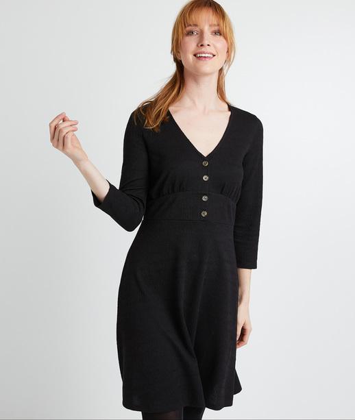 Robe en maille noire femme NOIR