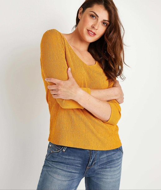 T-shirt uni femme SAFRAN