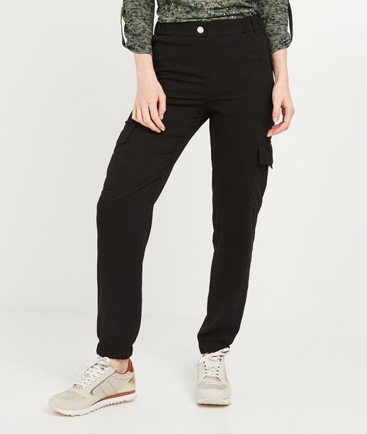 Pantalon battle noir femme NOIR