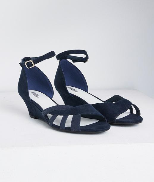 Sandales bi-matières femme MARINE