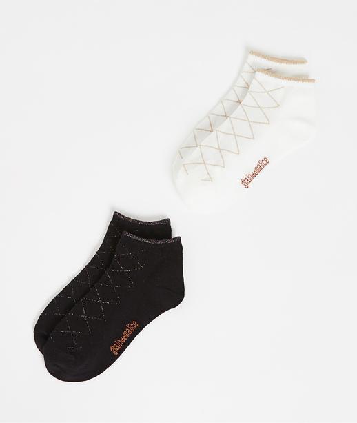 Lot de 2 paires de socquettes femme BLANC
