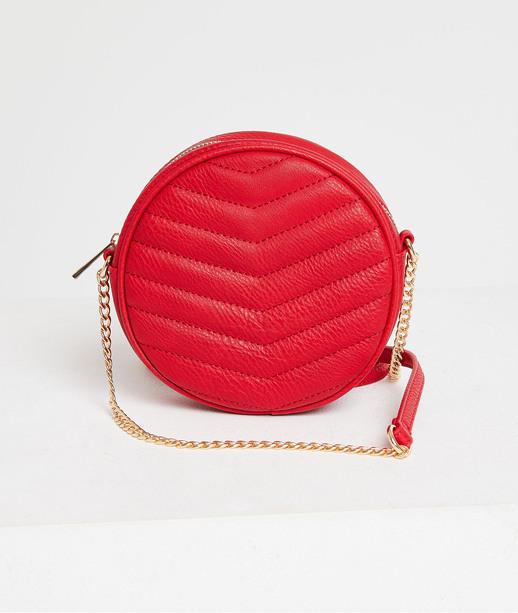Mini-sac rond rouge femme ROUGE