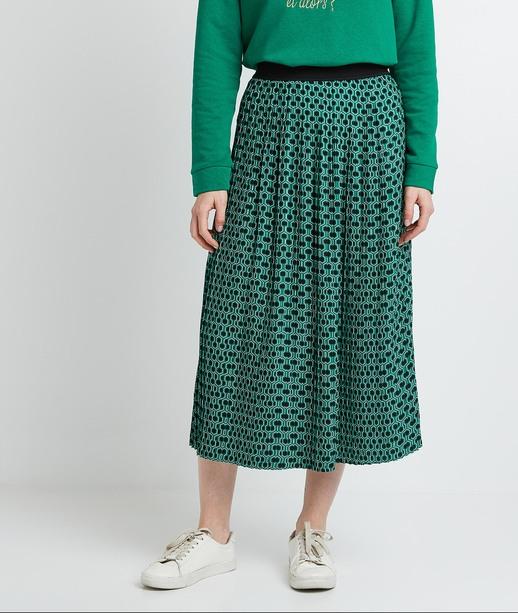 Jupe longue plissée femme IMPRIME