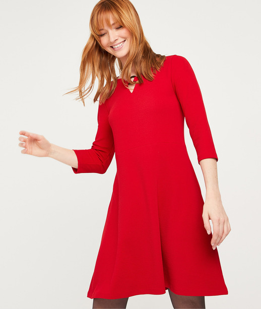 Robe courte rouge femme ROUGE