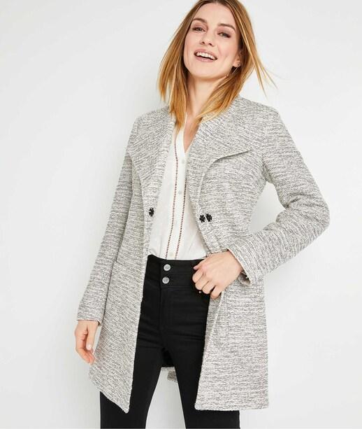 Manteau mi-long beige femme BEIGE