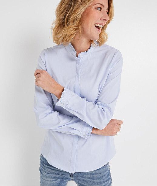 Chemise rayée bleue femme RAYURE BLEU