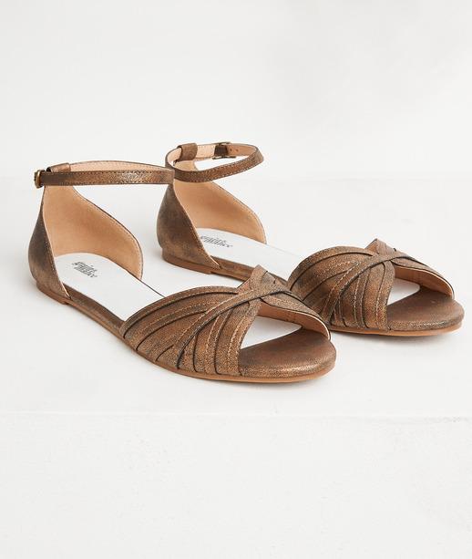 Sandales plates irisées femme CUIVRE
