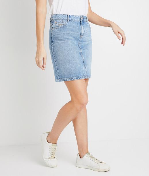 Jupe trapèze en jean femme STONE