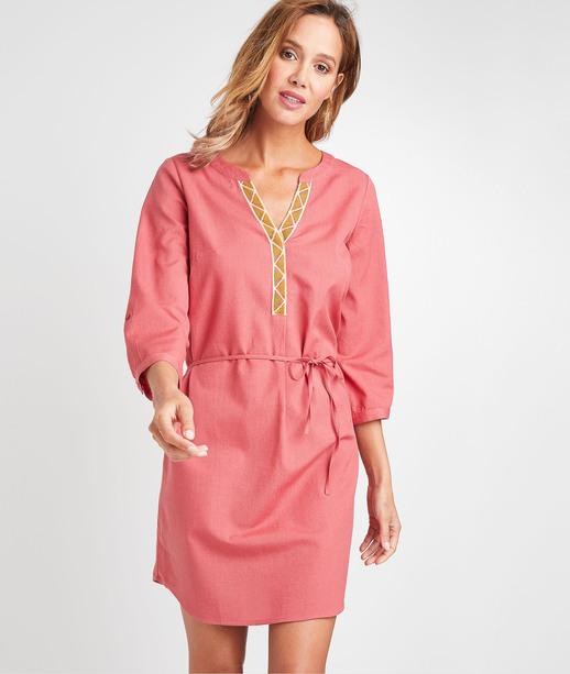 Robe en coton et lin femme BLUSH