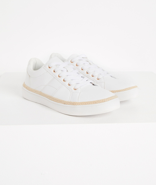Baskets blanches femme BLANC