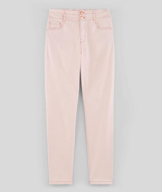 Pantalon mom paperbag femme ROSE