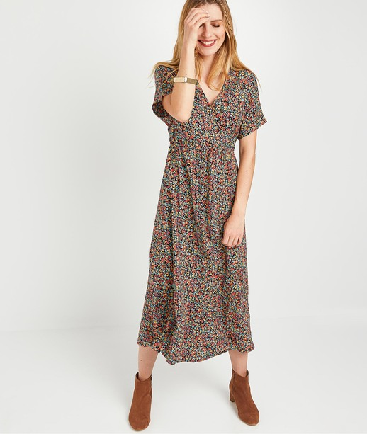 Robe longue imprimée femme IMPRIME