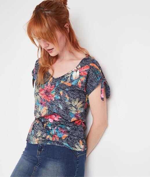 T-shirt fluide coloré femme MARINE