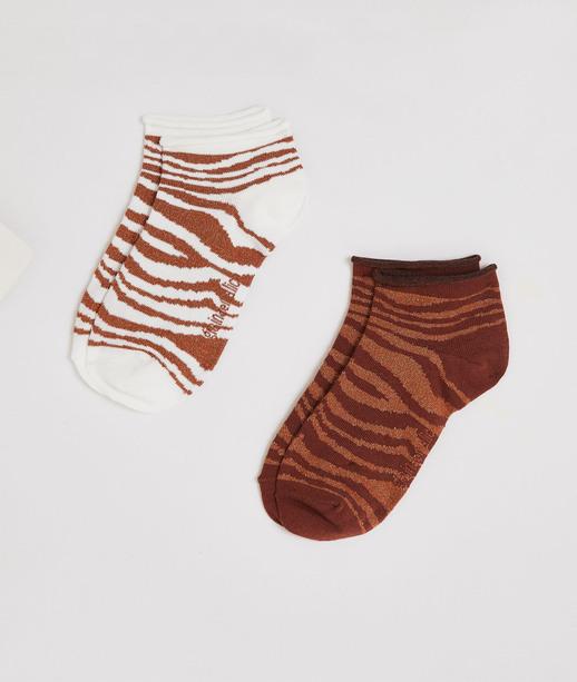 Lot de 2 paires de socquettes femme TERRACOTTA