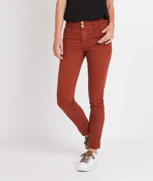 Pantalon taille haute raccourci femme SIENNE