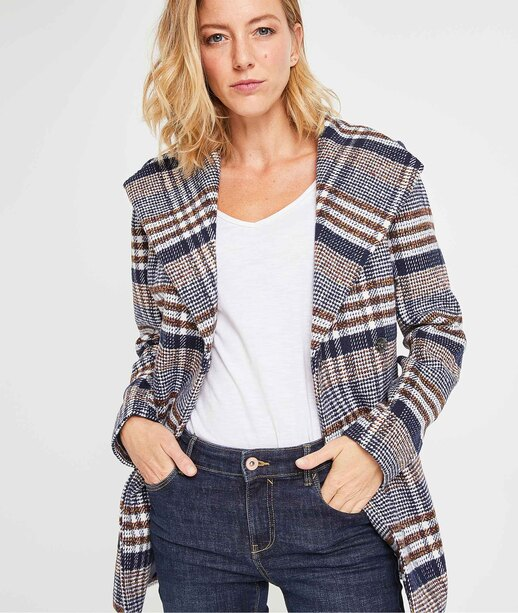 Manteau mi-saison femme BLEU