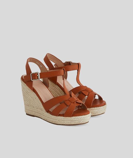 Sandales compensées femme CAMEL