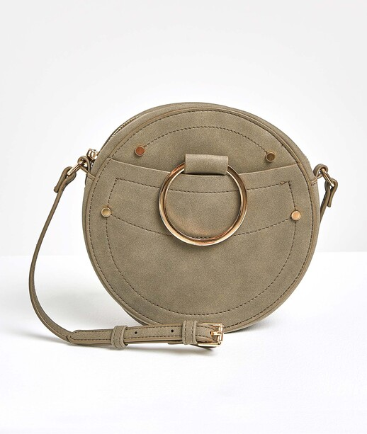 Petit sac rond kaki femme KAKI