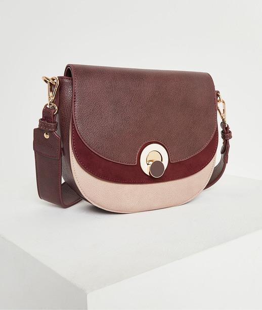 Petit sac à rabat rose femme GRENAT