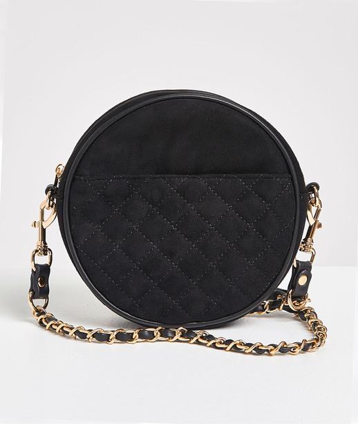 Petit sac rond noir femme NOIR