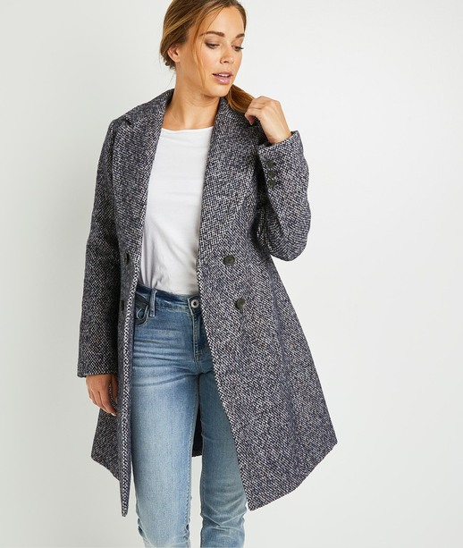 Manteau majorité laine femme BLEU