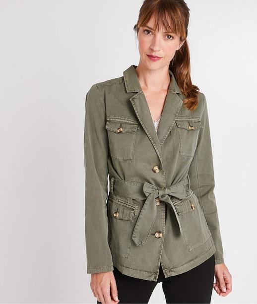 Veste militaire kaki en coton femme KAKI