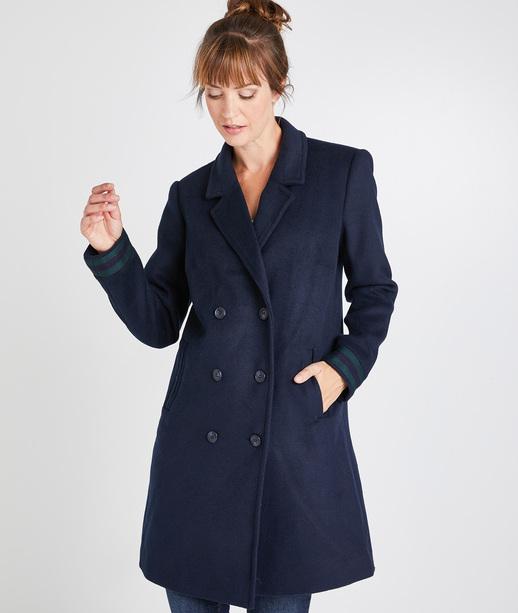 Manteau bleu marine femme MARINE