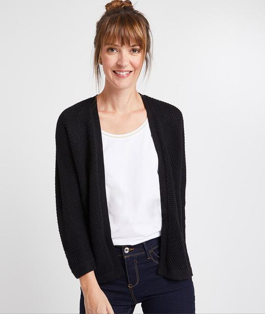 Gilet tricot noir femme NOIR