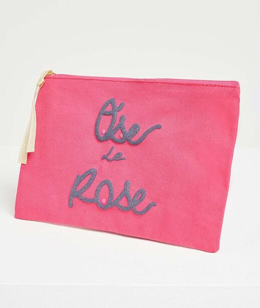 Pochette spécial octobre rose femme ROSE