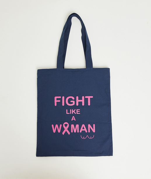 Tote bag spécial octobre rose femme MARINE