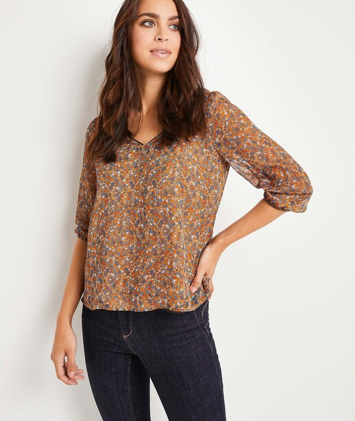 Blouse manches 3/4 femme CARAMEL