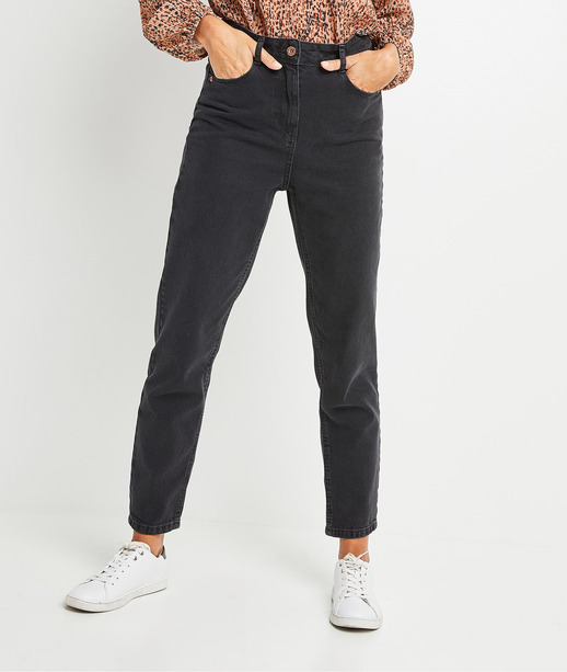 Jean mom noir femme BLACK WASHED