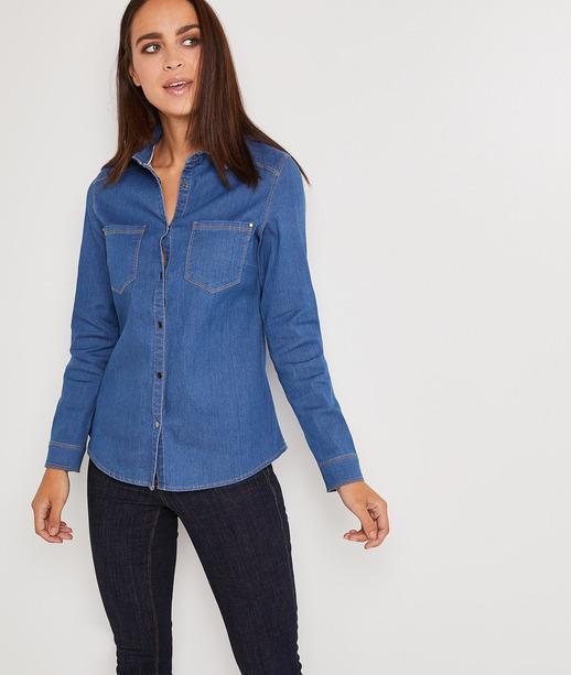 Chemise en jean bleu femme STONE